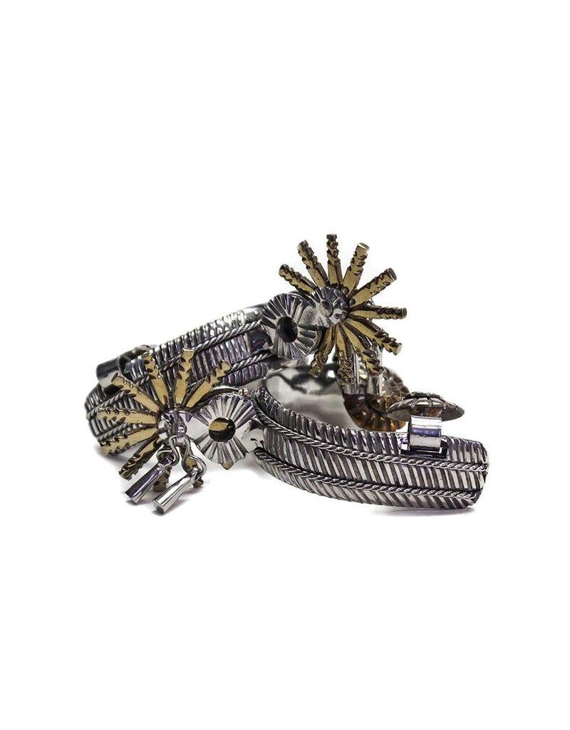 Espuelas Charras Mexicanas II Acero Inoxidable Stainless Steel Charro Spurs