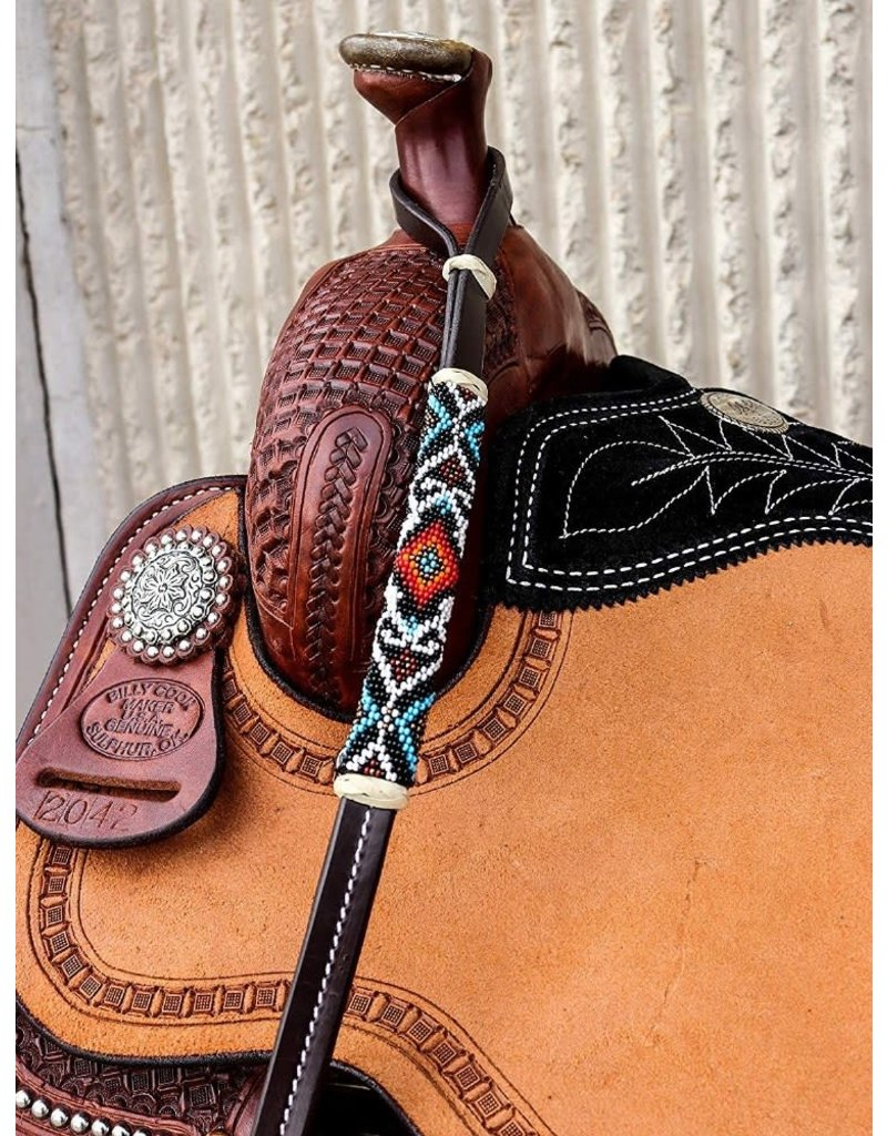 Beaded Leather Over Under Whip