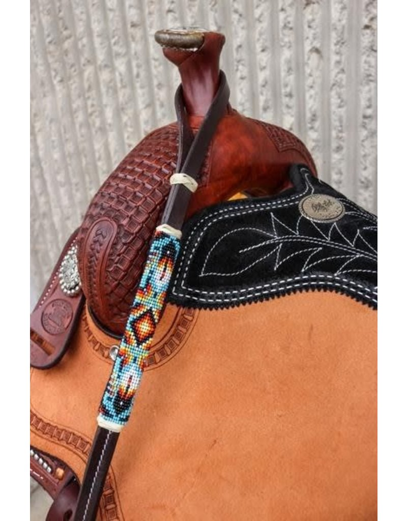 Beaded Navajo Feather Over and Under Whip