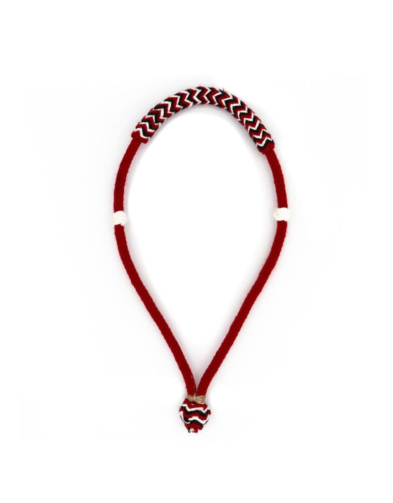 Charro Bosal Liso Boton Rojo Simple Red Cotton Bosal