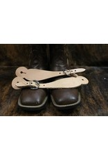 Western Leather Simple Spur Straps Natural Leather