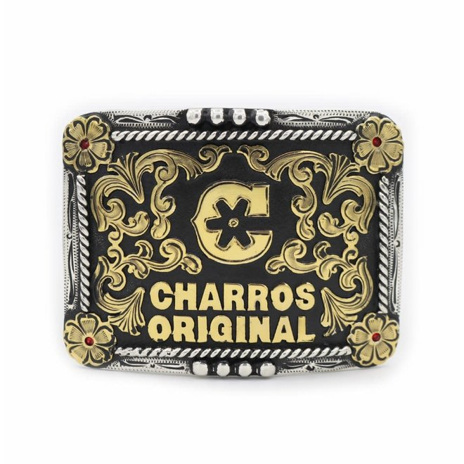 Charros Original Engraved Custom Buckle
