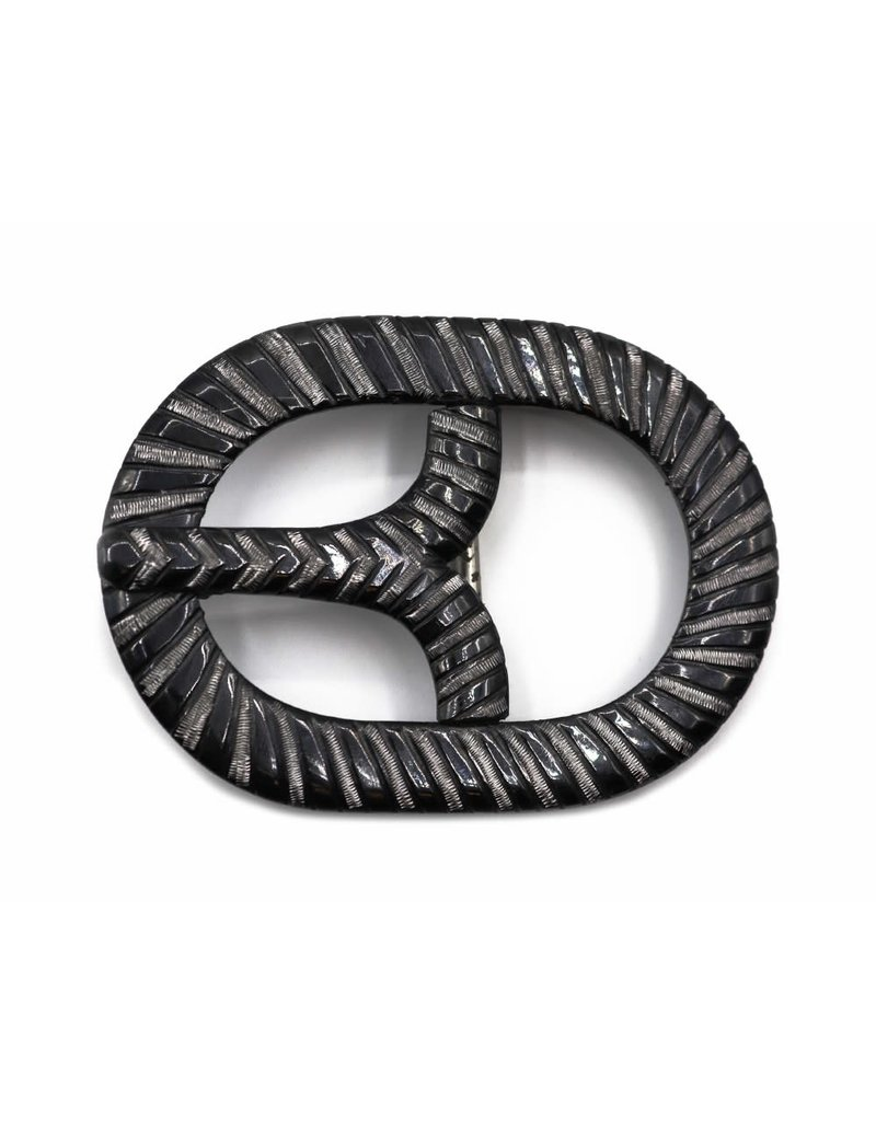 Hebilla Charra Oval Belt Buckle