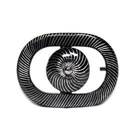 Oval Hebilla Fina (Negra) Charro Buckle Engraved