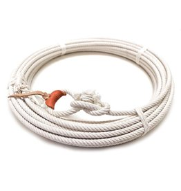 64 Ft White Cotton Rodeo Lasso Rope-Y/BL