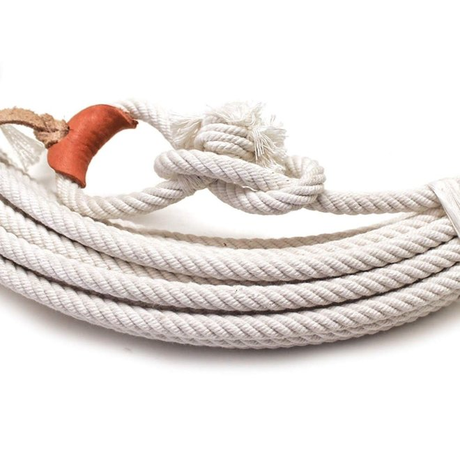 64 Ft White Cotton Rodeo Lasso Rope Soga de Algodon Charra - BL