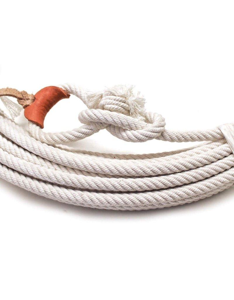 64 Ft White Cotton Rodeo Lasso Rope Soga de Algodon Charra -Y/BL