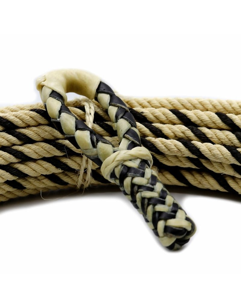 Charro Rawhide Black Hondilla Rope Rosadera