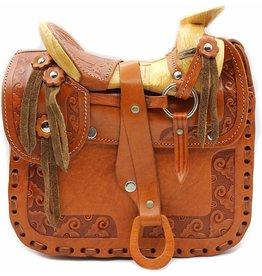 Western Saddle Purse Leathe Bolso Large