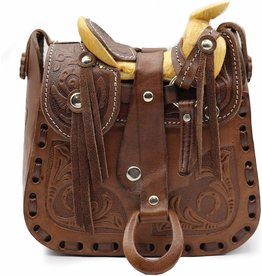 Western Saddle Purse  Leather Cowboy Small