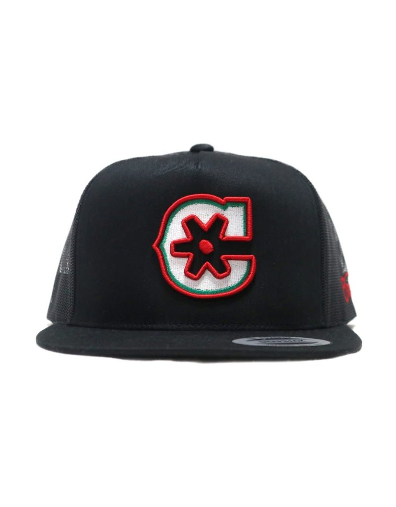 """MX"" Black Snapback Charros Original Authentic Cap"