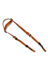 Cabezada Charra Diseño Simple Color Naranja Horse Headstall
