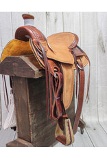 "16"" Billy Cook Hard Seat Wade Ranch Western USA Made Saddle"