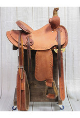 "12"" Roughtout Bear Trap Western Kids Saddle"