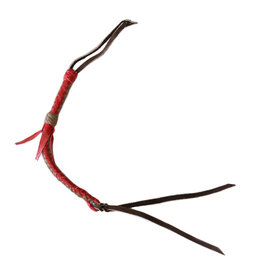 Leather Quirt Genuine Western Whip Red/Tan