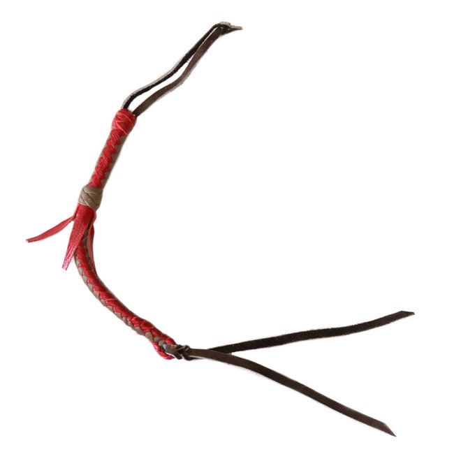 Leather Quirt Genuine Western Whip Red/Tan Horse Saddle Quirt Cuarta