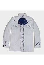 Camisa Charra Bordada Blanca Charros Original