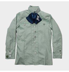 Camisa Pespunte Verde Charros Original