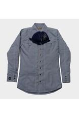 Camisa Charra Azul Estampada Charros Original