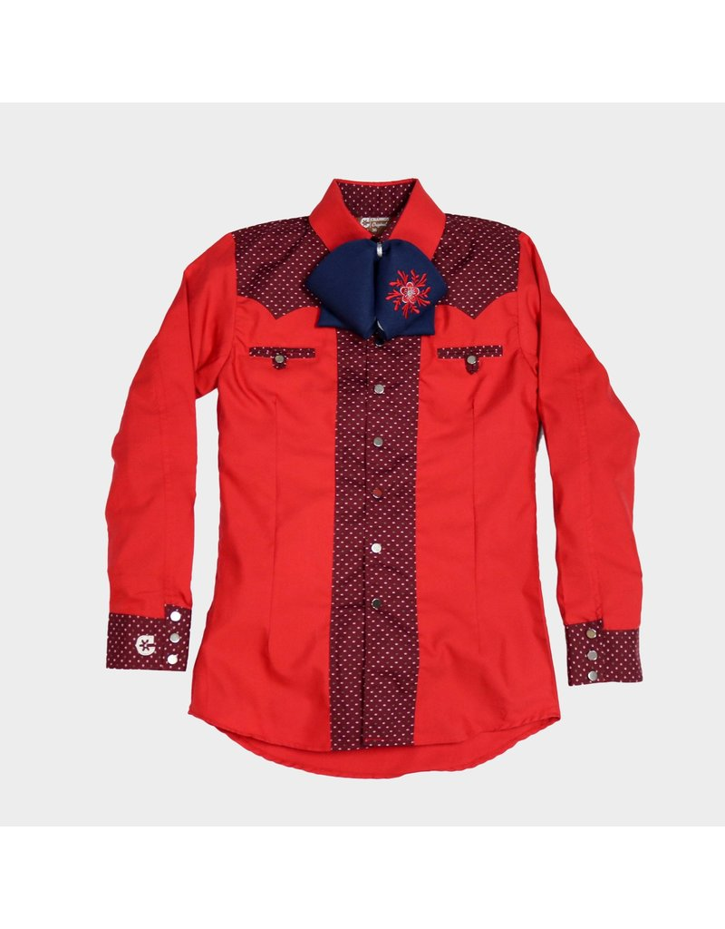 Camisa Charra Roja Bicolor Charros Original