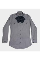 Camisa Charra Lisa(Gris) Charros Original