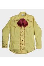Camisa Charra Bordada Amarilla Charros Original