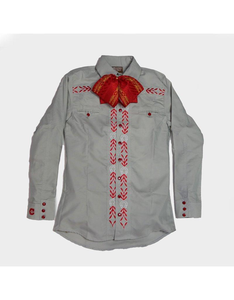 HS Camisa Gris Camisa Charra Charros Original