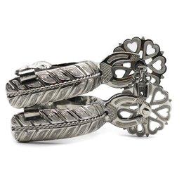 Espuelas Corazon Acero Charro Spurs Stainless Steel Engraved