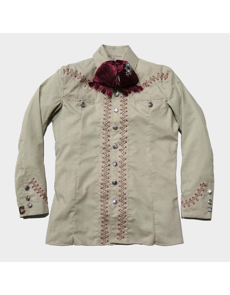 Camisa Charra (Bordada a mano) Cafe Charro Shirt