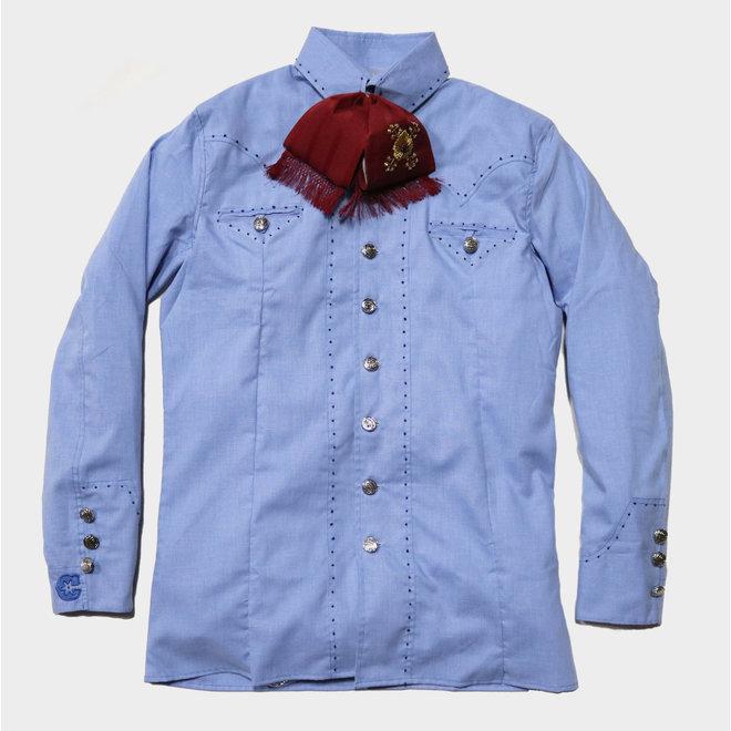 Camisa Pespunte Azul