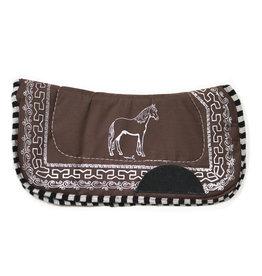 Carona De Pony Brown Saddle Pad