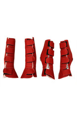 Horse Leg Boot Red (4) Canilleras Rojas Para Caballo