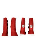 Protectores Rojos (4) Horse Leg Boots Protectors Velcro  Closure