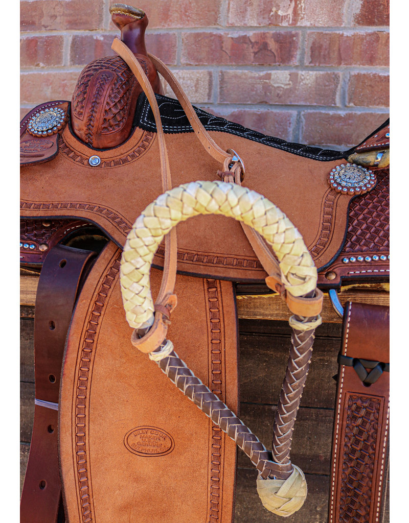 Western Heavy Duty Russet Headstall Cowboy Noseband