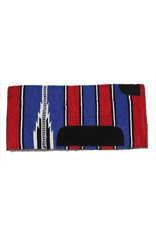 Western Pony Saddle Pad Red/Blue Carona de Pony