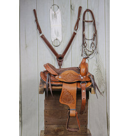 "10"" Brown Leather Saddle Kids Set RD"