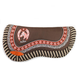 Carona Charra Cola de Pato Cafe Horse Saddle Pad Brown