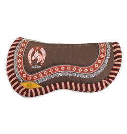 Carona Charra Cola de Pato Cafe Horse Saddle Pad Brown II