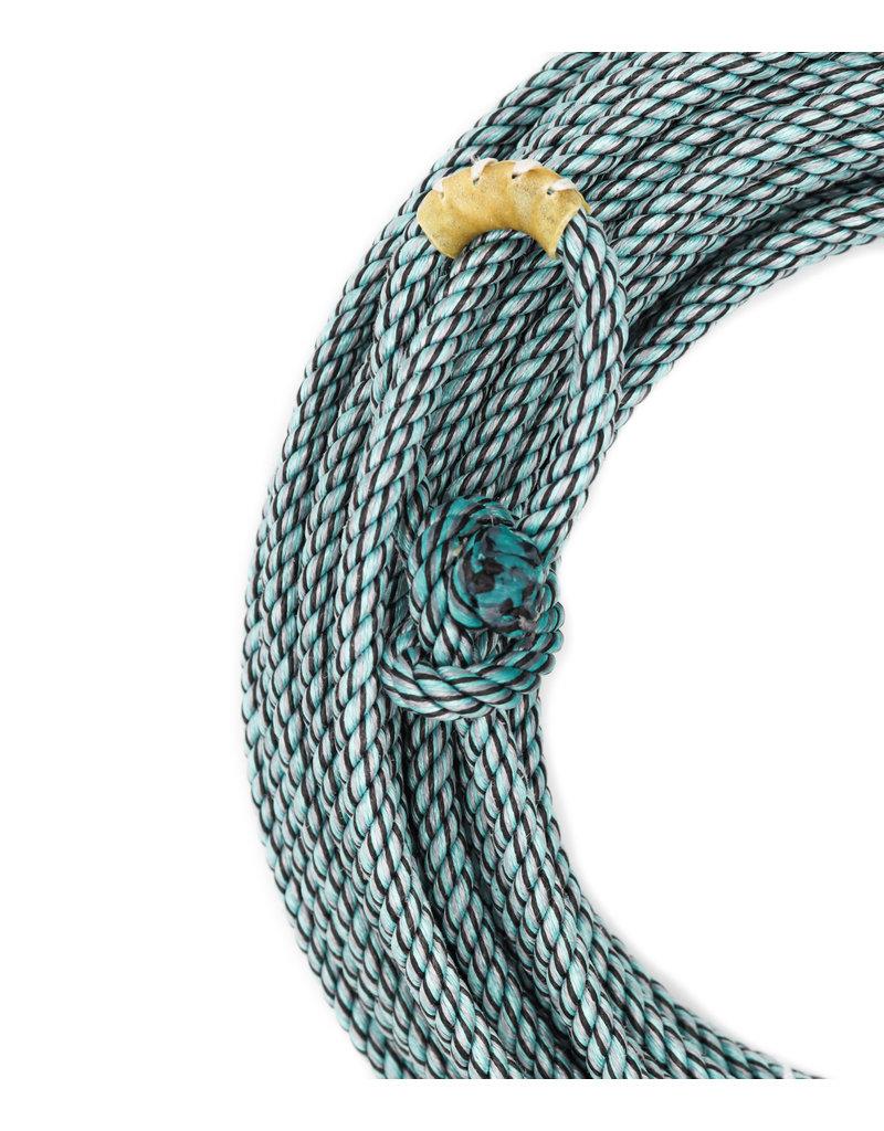 60 Ft Blue/Multi Poly-Nylon Lead Rope Soga Azul/Multi De Plomo Cowboy Lasso