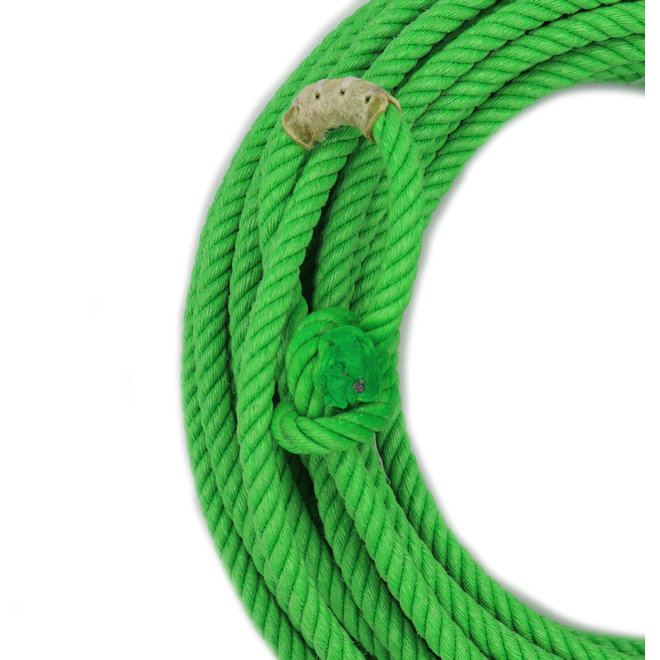 50 Ft Lime Green Poly-Nylon (Lead Core) Rope Soga de Plomo  Cowboy Lasso