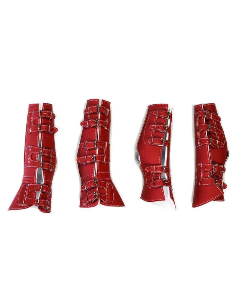 Protectores Rojos Charro Horse Leg Boot Protector Red