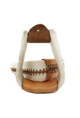 "3"" Roper White Rawhide Western Saddle Stirrups"