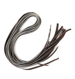 Brown Charro Saddle Strings Juego de 8  Tientos De Piel Para Montura Charra