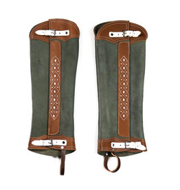 Polainas Largas Gamuza Verde Long Rought Out Green Half Chaps