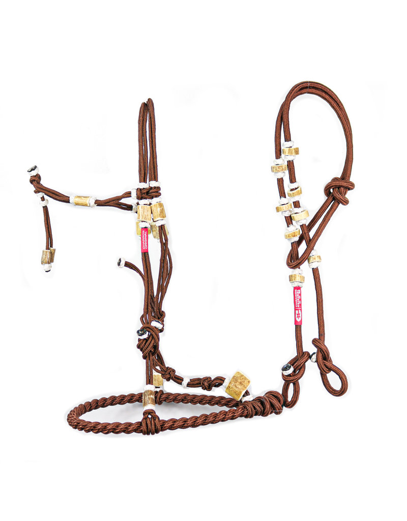 Charros Original Bosal/Riendas Hueso Cafe Nylon Brown Bosal/reins Set