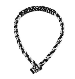 Bosal Negro/Blanco  Trenzado Horse Cotton Braided Bosal Black/White
