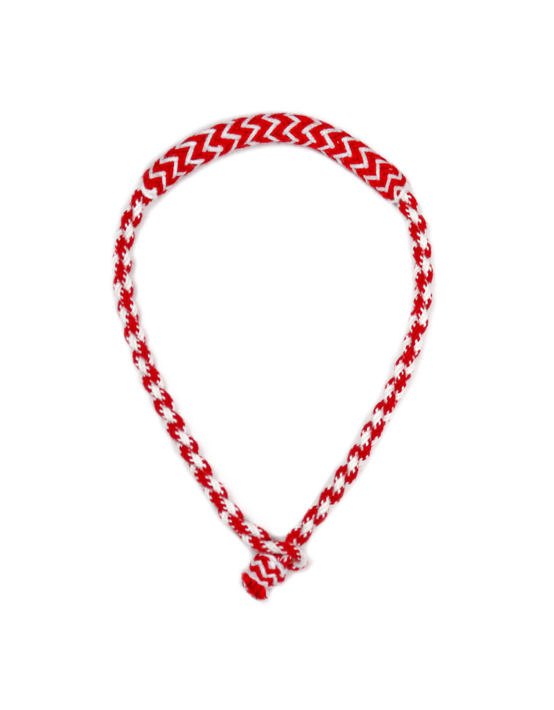 Bosal Charro Rojo/Blanco Algodon Trenzado Horse Cotton Braided Bosal Red/White