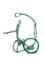 Bosalillo Charro de Algodon Verde Green Horse Cotton Bosal Set