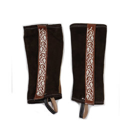 Polainas Cafe (M) Joven Charras Cowboy Half Chaps Brown(youth)