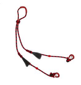 Riendas Charras Negro/Rojo Crines Caballo Horse Reins Red/Black